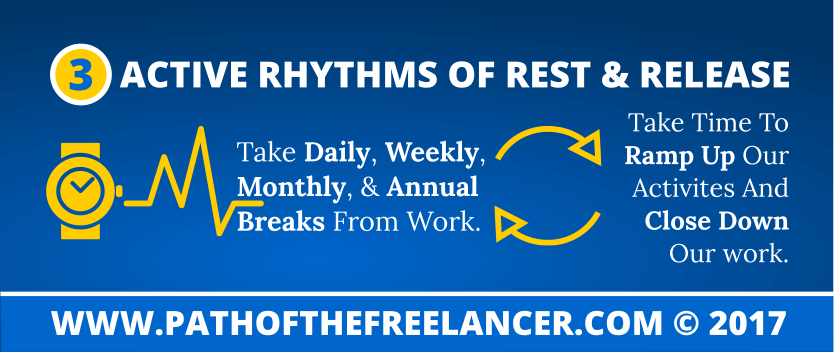 Active Rhythms Of Rest & Release Infographic