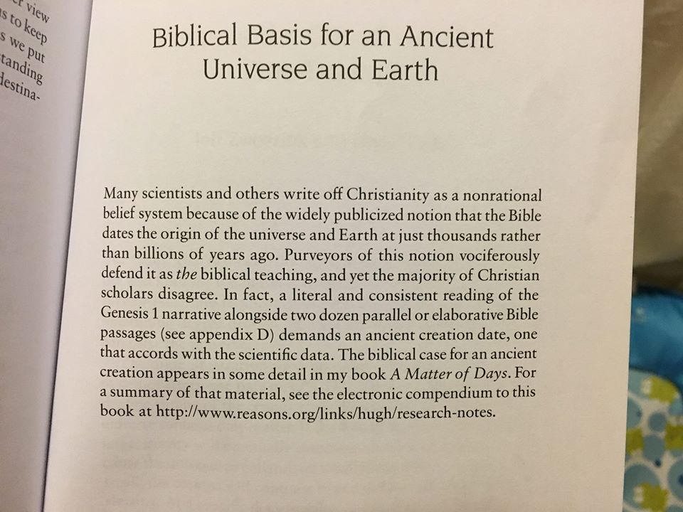 Book Excerpt: Biblical Basis for an ancient Universe & Earth