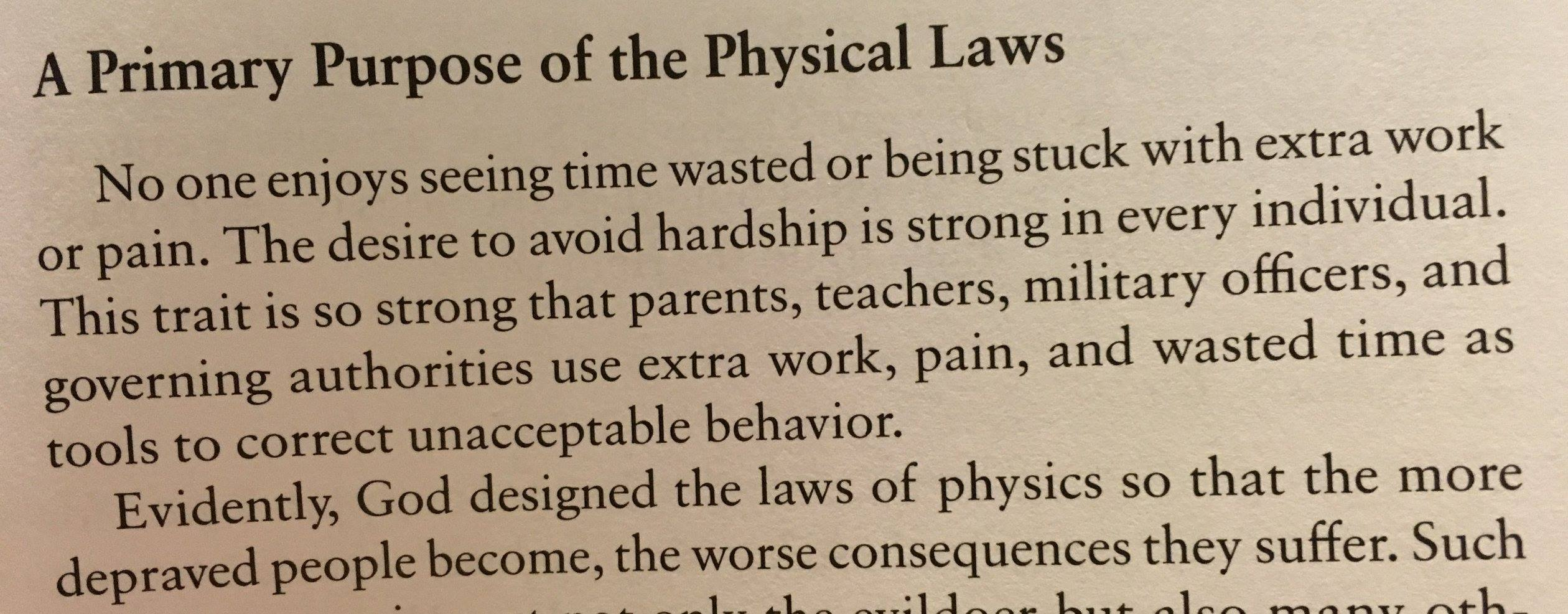 Book Blurb: Primary Purpose of the physical laws