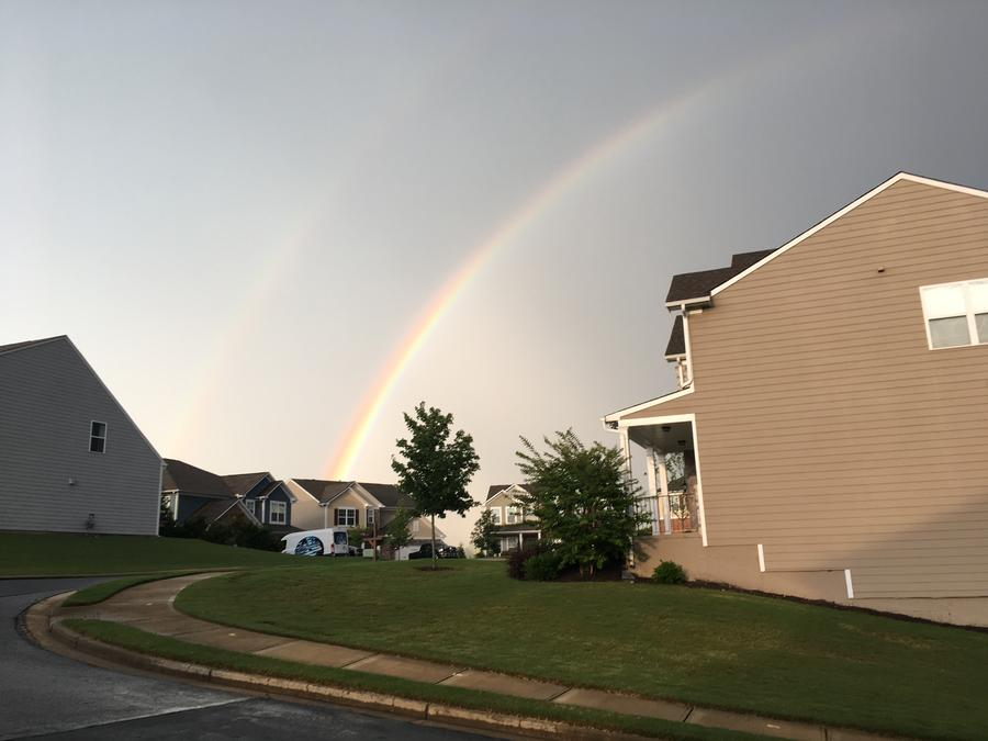 Double Rainbow In Sugar Hill Georgia