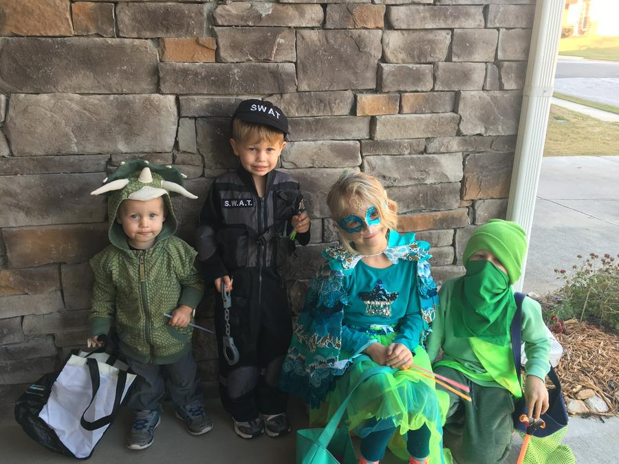 Kids In Halloween Costume