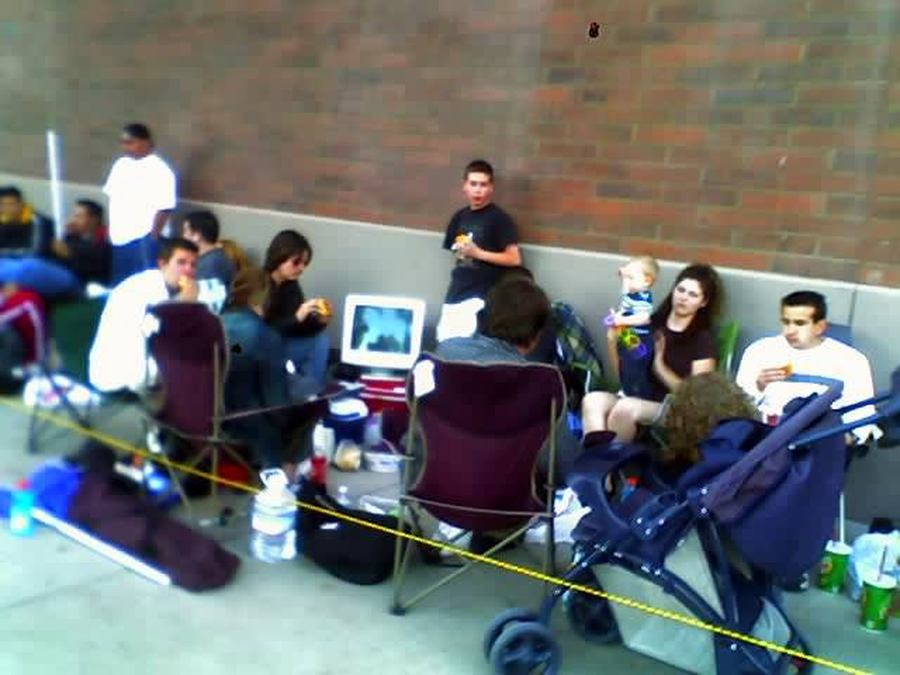 My Friends Camping Out For Star Wars III: Revenge Of The Sith