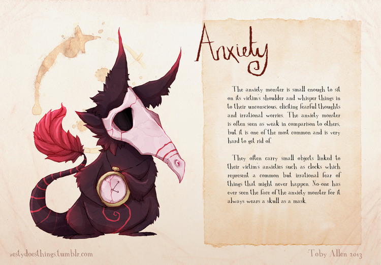 Anxiety Character Graphic