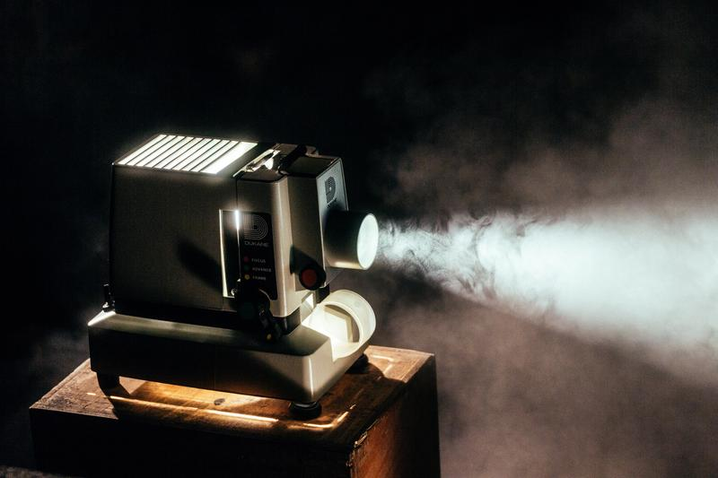 Projector With Smoke