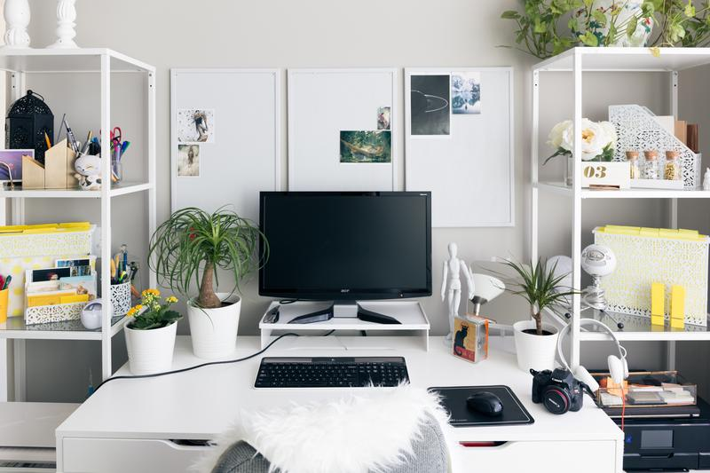 Clean Organized Simple Work Desk