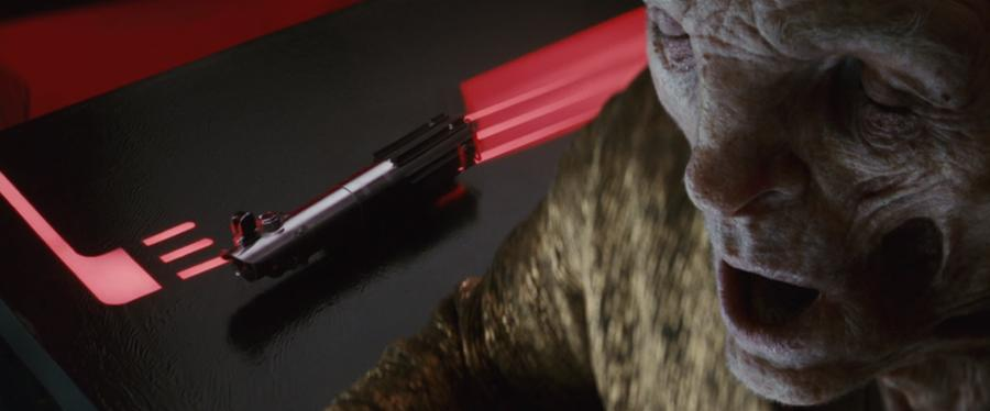 snoke lightsaber turning