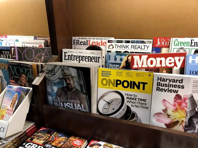 Entrepreneur Magazine on Barnes & Noble Book Shelf