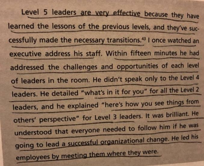 level 5 leaders meet people where they are