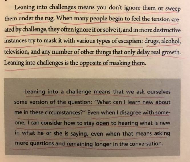 leaning into challenges develops maturity