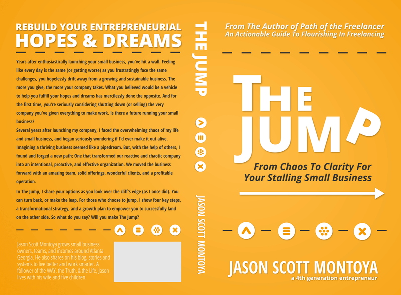 the jump book cover for small business owners