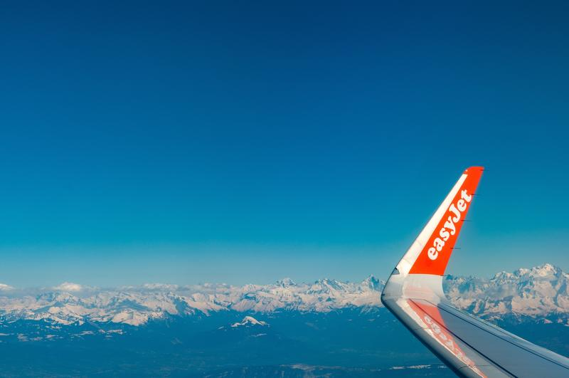 Easy Jet Sky view mountains