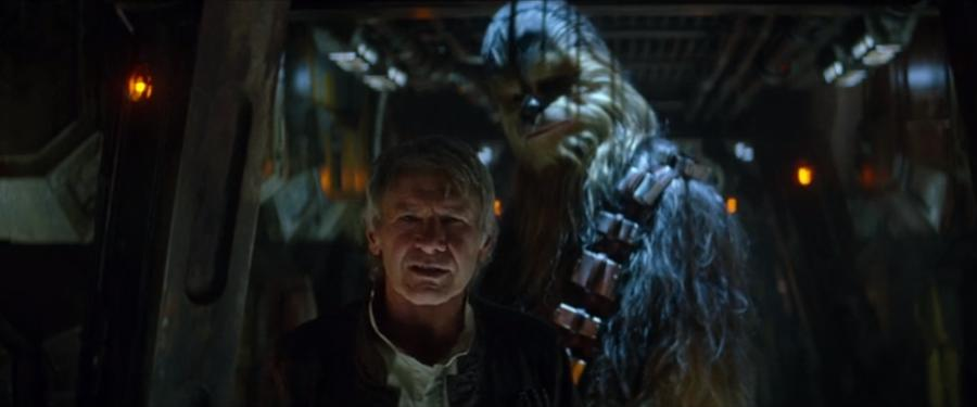 Han Solo & Chewbacca Confronted In The Force Awakens
