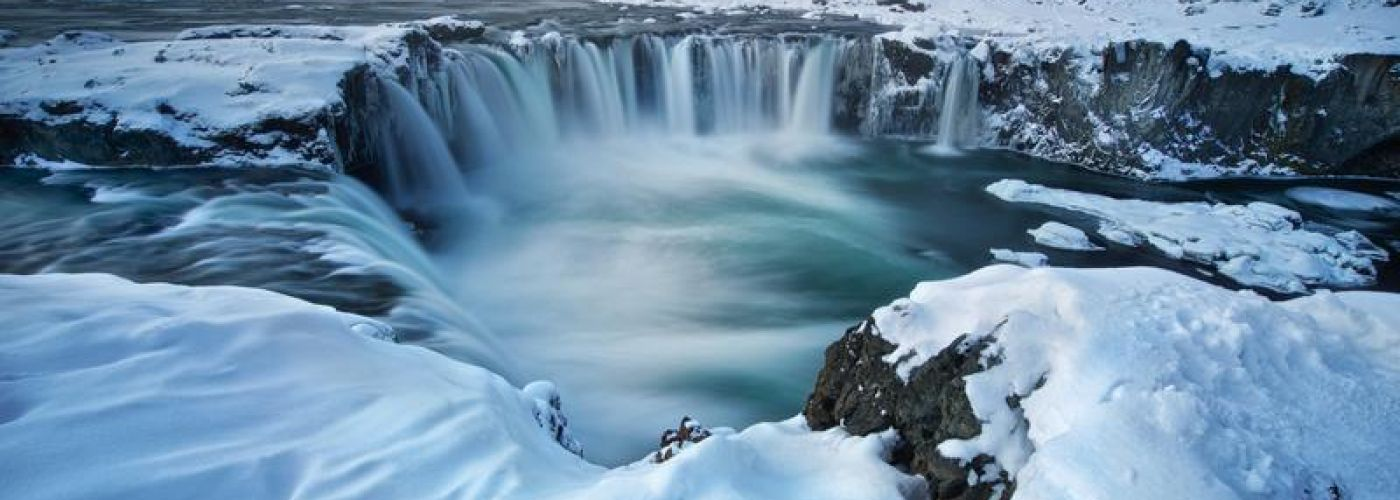 Wonderful Ice Water Falls